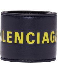 Balenciaga - Black And Yellow Cycle Bracelet - Lyst