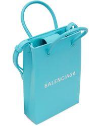 Balenciaga - ブルー ショッピング フォン ホルダー バッグ - Lyst