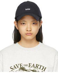 SJYP ネイビー キャップ - ブルー