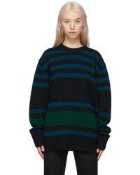 Acne Studios - ブラック & ブルー ストライプ セーター - Lyst