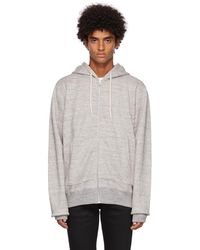 Naked & Famous French Terry Zip Hoodie - Grey