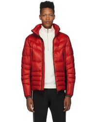 3 MONCLER GRENOBLE - レッド Canmore パファー ジャケット - Lyst