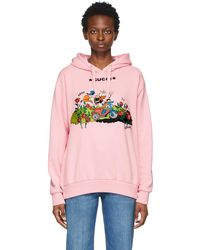 Gucci Disney Edition Garden Donald Duck Hoodie - Pink