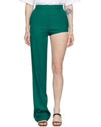 Pushbutton Pantalon a jambe unique vert