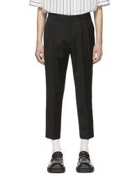 ADER error Black Cropped Cinder Pants