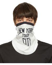 TAKAHIROMIYASHITA TheSoloist. White 'new York Tough City' Scarf