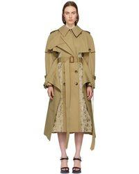 Alexander McQueen - Beige Patchwork Trench Coat - Lyst