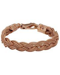 Emanuele Bicocchi Ssense Exclusive Rose Gold Flat Braided Bracelet - Multicolour