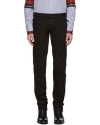 DSquared² - Black Garment Dyed Slim Jeans - Lyst