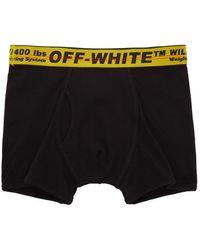 Off-White c/o Virgil Abloh Boxer à logo - Noir