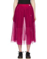 adidas Originals ピンク チュール アディカラー スリーク スカート