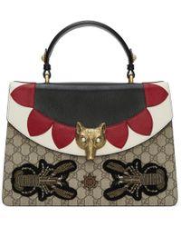 Gucci - Multicolor Medium Gg Supreme Broche Bag - Lyst