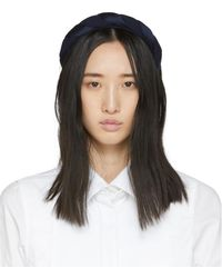 Sophie Buhai Navy Silk Twisted Headband - Blue