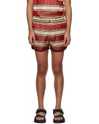 Marni Red Striped Shorts