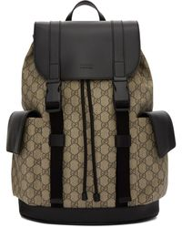 Gucci Beige And Black Soft GG Supreme Backpack - Natural
