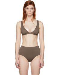 Her Line - Brown Audrey Bikini Top - Lyst