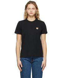 Maison Kitsuné ブラック T シャツ