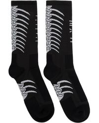 Unravel Project Black And Gray Bone Socks