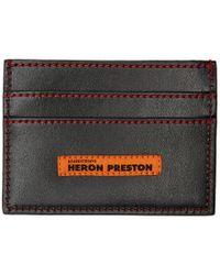 Heron Preston ブラック Style スクエア C フラット カード ホルダー