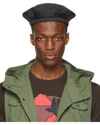 Engineered Garments - Béret en coton anti-déchirures noir - Lyst