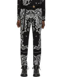 Sacai Black Floral Pants