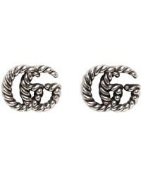 Gucci - シルバー Double G ピアス - Lyst