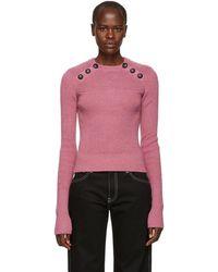 Étoile Isabel Marant - Pink Koyle Ribbed Sweater - Lyst