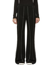 CALVIN KLEIN 205W39NYC - Black Pinstripe Jadile Trousers - Lyst
