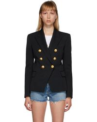 Balmain ウールジャケット - ブラック