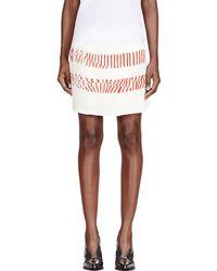 Maiyet - White Silk Printed Pleated-paneled Skirt - Lyst