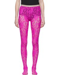 Gucci - Pink Lace Tights - Lyst