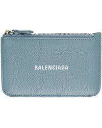 Balenciaga - ブルー ロング Essential コイン & カード ケース - Lyst