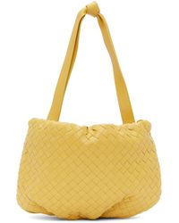 Bottega Veneta - Sac jaune Small Intrecciato Bulb - Lyst