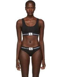 Calvin Klein - Black Monogram Mesh Bralette - Lyst