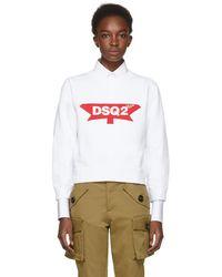 DSquared² - White Canada Sweatshirt - Lyst