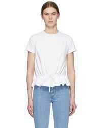 Moncler T-shirt blanc Ruffle