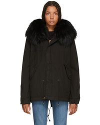 Mr & Mrs Italy - Black Interior Quilt Fur Jacket - Lyst