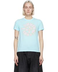 Lanvin ブルー 70s ロゴ T シャツ