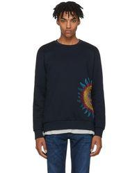 Paul Smith - Navy Embroidered Sun Sweatshirt - Lyst