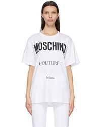 Moschino - ホワイト Couture! T シャツ - Lyst