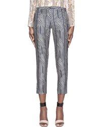 SUNO - Navy Warped Stripe Classic Trousers - Lyst
