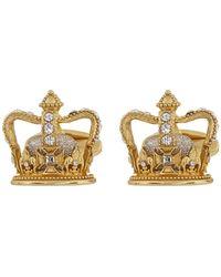 Dolce & Gabbana - Boutons de manchette dores King - Lyst