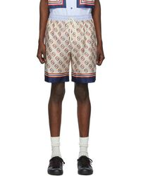 Gucci Off-white Silk GG Shorts