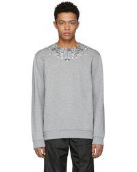 Givenchy - Grey Jewel Sweatshirt - Lyst