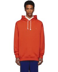 Acne Studios - Red Oversized Farrin Face Hoodie - Lyst