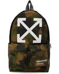 Off-White c/o Virgil Abloh - Green Camo Quote Backpack - Lyst