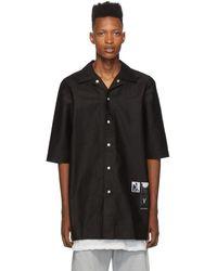 Rick Owens Drkshdw Black Cotton Magnum Shirt