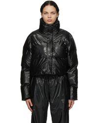 Rains ブラック Boxy Cropped ジャケット