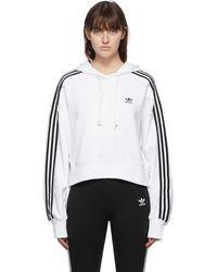 adidas Originals Adicolor Cropped Hoodie - White