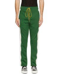 Rhude Green Jersey Collegiate Track Trousers